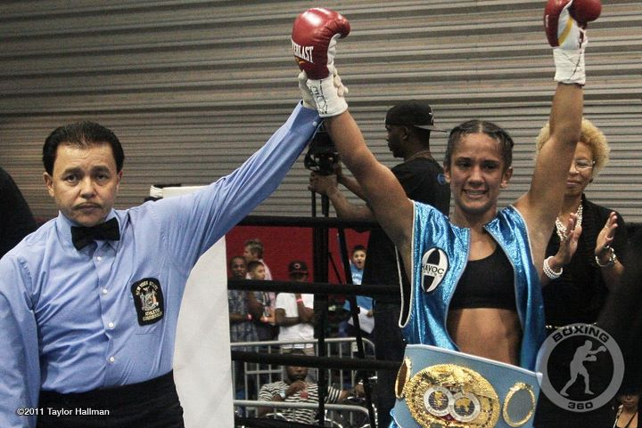 And New!!! IBF Female Superfeather Champion Amanda Serrano