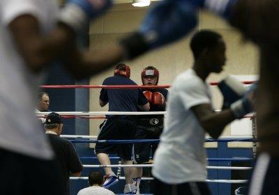 Joe Dawejko sparring