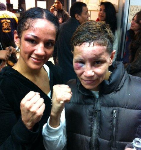 Amanda Serrano and Ela Nunez