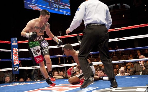 Rios getting the knockout