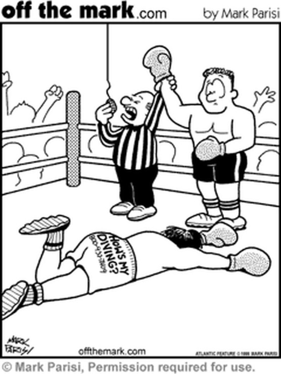 boxing cartoon