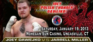 JOEY DAWEJKO  RETURNS JAN 19TH AT THE MOHEGAN SUN CASINO