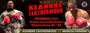 Keandre Leatherwood to face Marcos Primera on Saturday