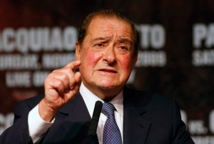 via @RadioRahimTV: Arum: &#8220;Little Oscar is Crying&#8221; #boxing