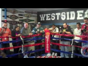 Robert Guerrero and Andre Berto Workout for the Media