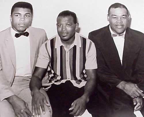 Muhammad Ali, Sugar Ray Robinson & Joe Louis