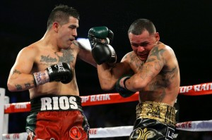 RIOS PUTS ALVARADO THROUGH THE WRINGER